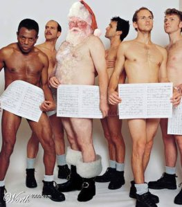 Naked Santa and His Gang